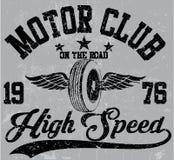 摩托车俱乐部象征图形设计 库存图片