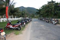 摩托车停放 图库摄影