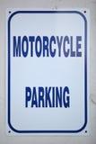 摩托车停车处标志 库存图片