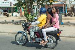摩托车出租汽车在贝宁 免版税库存照片