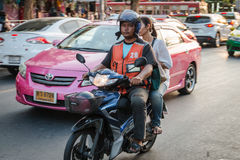 摩托车出租汽车服务在曼谷 库存照片