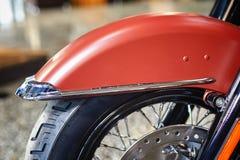 摩托车前轮 免版税库存照片