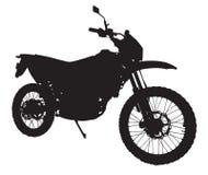 摩托车剪影 免版税库存图片