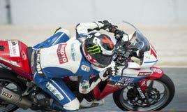 摩托车加泰罗尼亚的冠军  免版税库存照片