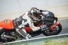 摩托车加泰罗尼亚的冠军  免版税库存图片