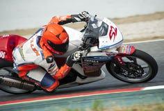 摩托车加泰罗尼亚的冠军  图库摄影