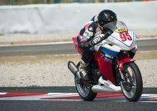 摩托车加泰罗尼亚的冠军  免版税图库摄影