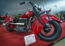 摩托车印地安人四, 1939年 库存照片