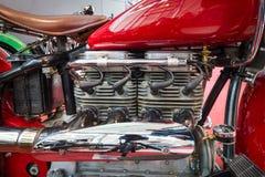 摩托车印地安人引擎四, 1939年 免版税库存照片