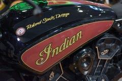 摩托车印地安人的细节 库存图片