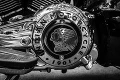 摩托车印地安人头目引擎  免版税库存照片