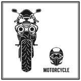 摩托车后面视图元素质量集合 库存照片