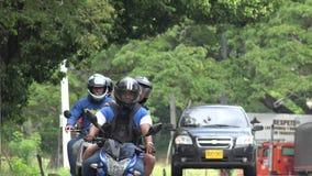 摩托车和汽车 图库摄影