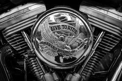 摩托车哈利戴维森细节  免版税库存照片