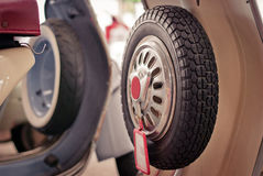 摩托车备用轮胎 免版税图库摄影