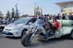 摩托车季节的开头在Kyiv 免版税库存图片