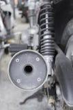 摩托车尾气  免版税库存图片