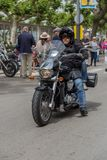 摩托车展示在Palamos在西班牙 27 05 2018年西班牙 免版税库存图片