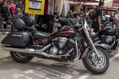 摩托车展示在Palamos在西班牙 27 05 2018年西班牙 库存图片