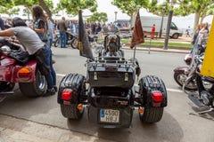 摩托车展示在Palamos在西班牙 27 05 2018年西班牙 免版税图库摄影
