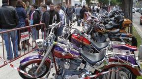 摩托车展览 库存图片
