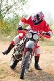 摩托车开始 免版税库存图片