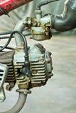 摩托车引擎在1990年 库存图片