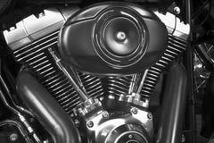 摩托车引擎细节 免版税库存图片