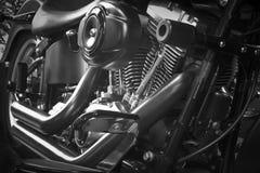 摩托车引擎细节 库存图片