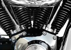 摩托车引擎镀铬物 免版税图库摄影