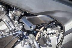 摩托车引擎 库存图片
