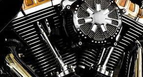 摩托车引擎 免版税库存图片