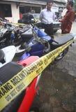 摩托车抢劫 图库摄影