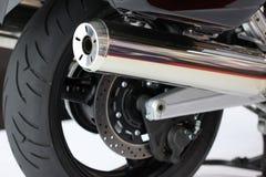 摩托车排气管 库存图片