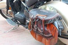 摩托车旅行袋子 免版税图库摄影