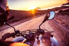 摩托车旅行 免版税图库摄影