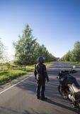 摩托车旅途 免版税库存照片