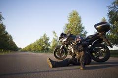 摩托车旅途 免版税库存图片