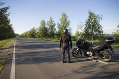 摩托车旅途 库存照片