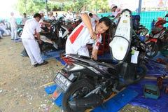 摩托车服务 库存照片