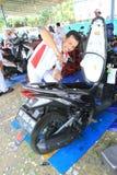 摩托车服务 免版税库存图片