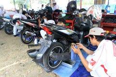 摩托车服务 免版税图库摄影