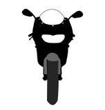 摩托车正面图传染媒介 免版税库存图片