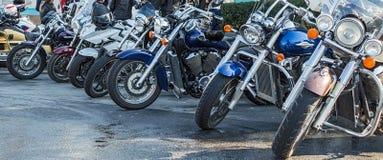 摩托车正面图  免版税库存图片