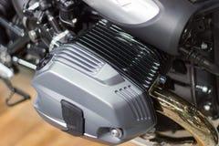 摩托车气缸座新的引擎细节设计的 图库摄影
