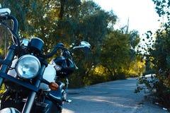 摩托车的前轮 库存照片