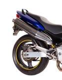 摩托车的后面轮子 免版税库存照片