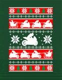 摩托车的圣诞节设计 免版税库存照片