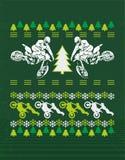 摩托车的圣诞节设计 免版税库存图片