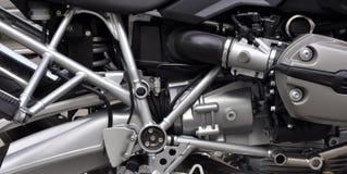 摩托车的引擎 免版税库存图片